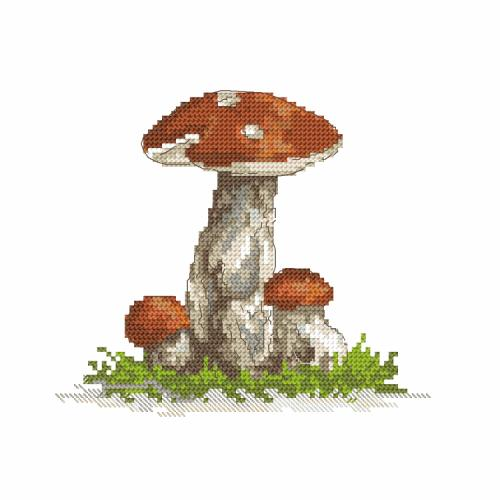 Cross stitch kit - Birch bolete