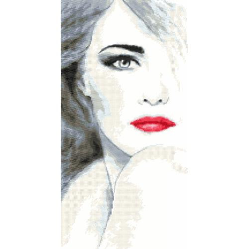 Cross stitch pattern - Sensual lady