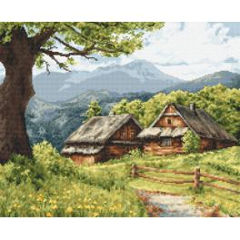 K 10212 Tapestry canvas - Mountain cottages