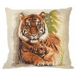Cross stitch kit - Pillow with tigers