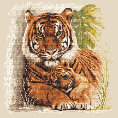 Cross stitch pattern - Tigers