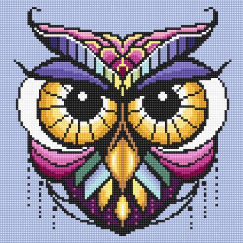 Diamond painting kit - Colourful owl