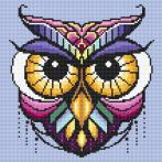 Diamond painting kit - Colourful owl
