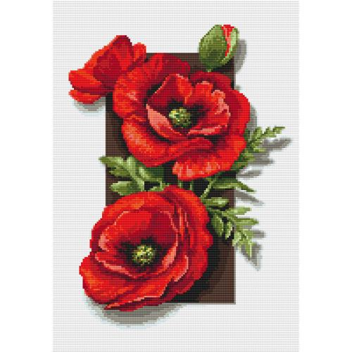 Diamond painting kit - Poppies 3D