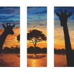 ONLINE pattern - Energy of Africa - triptych