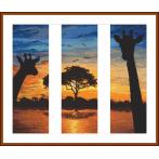 Tapestry canvas - Energy of Africa - triptych