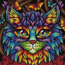 Diamond painting kit - Rainbow cat