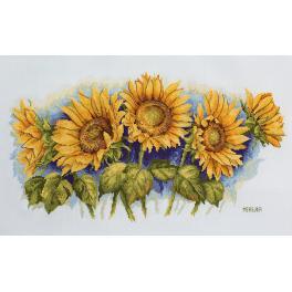 Cross stitch kit - Bright sunflowers