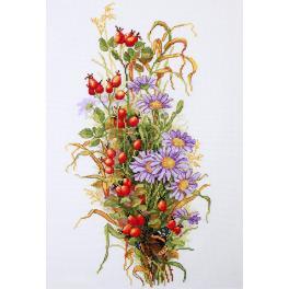 Cross stitch kit - Wildrose berries