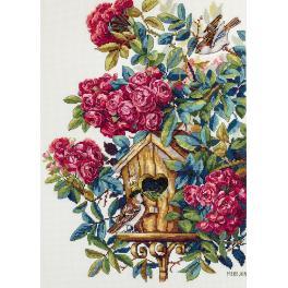 Cross stitch kit - Rose bush