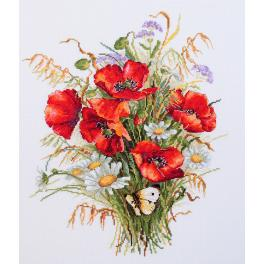 Cross stitch kit - Poppies and oats
