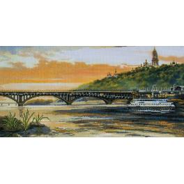 NCP 2226 Kit with mouline and printed background - The slopes of the Dnieper