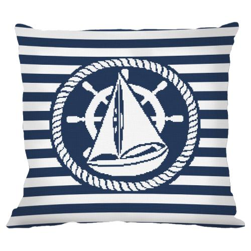 Cross stitch pattern - Pillow - Boat