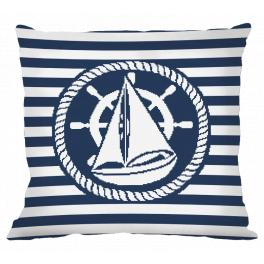 Cross stitch kit - Pillow - Boat