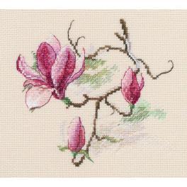 Cross stitch kit - Magnolia flowers