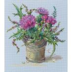 Cross stitch kit - Scottish thistle
