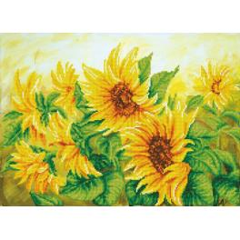 DD10.023 Diamond painting kit - Hazy daze sunflowers
