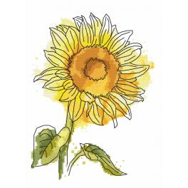 Cross stitch pattern - Lovely sunflower