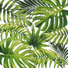 Pattern ONLINE - Exotic leaves