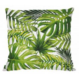 Cross stitch kit - Pillow - Exotic leaves
