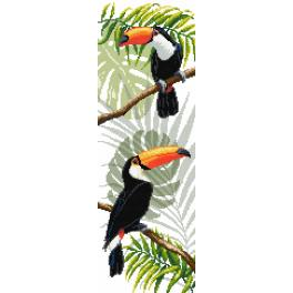 ZN 8977 Set with tapestry and mouline - Toucans