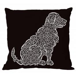 ONLINE pattern - Pillow - Lace labrador