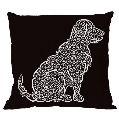 ONLINE pattern - Pillow - Lace labrador