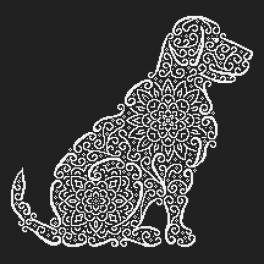 Cross stitch pattern - Lace labrador