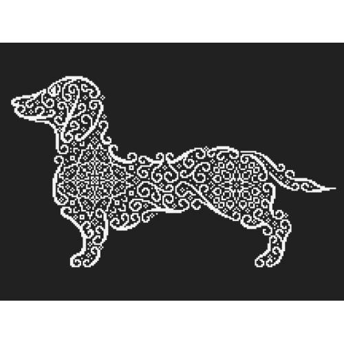 Cross stitch kit - Lace dachshund