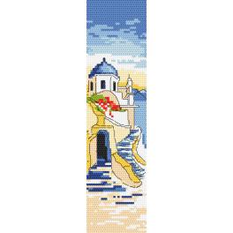 GU 10186 Cross stitch pattern - Bookmark - Greetings from Greece