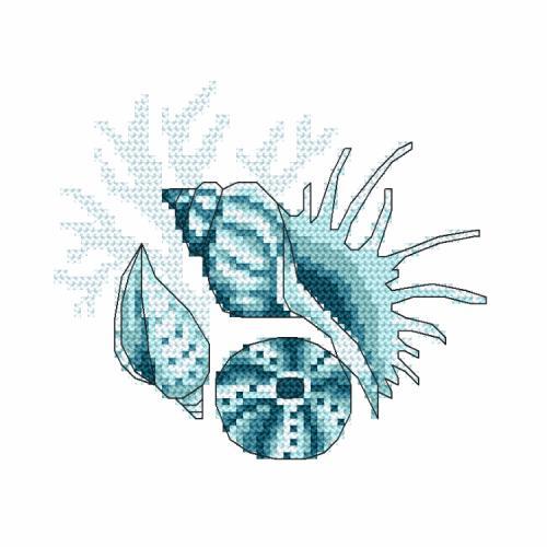 ONLINE pattern - Sea shells III
