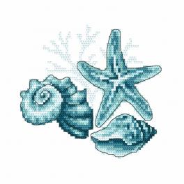 Cross stitch kit - Sea shells II
