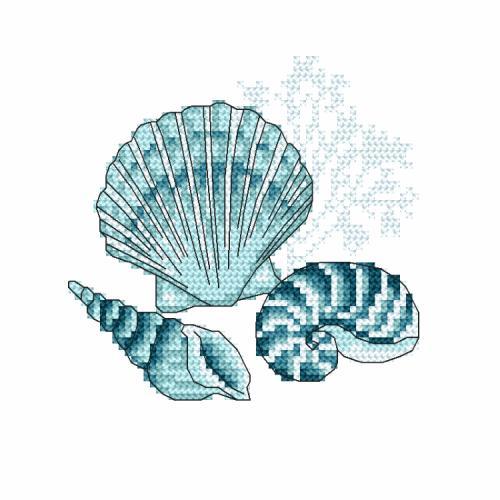 Z 10219 Cross stitch kit - Sea shells I