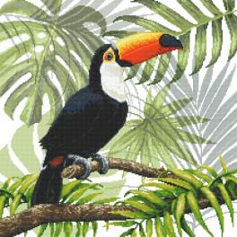ZN 8978 Kit with tapestry and mouline - Toucan in the tropics