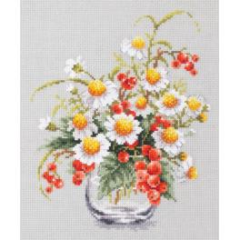 Cross stitch kit - Chamomile and red currant