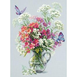Cross stitch kit - Phlox and yarrow