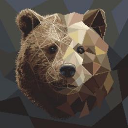 GC 8983 Cross stitch pattern - Mosaic bear