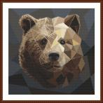 Cross stitch pattern - Mosaic bear