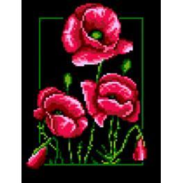 Cross stitch pattern - Poppies