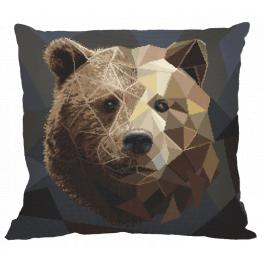 W 8983-01 ONLINE pattern pdf - Pillow - Mosaic bear