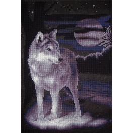 PAJ 0462 Cross stitch set - White wolf