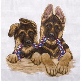 PAJ 1683 Cross stitch set - Pair of twins