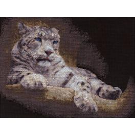 Cross stitch set - Snow leopard