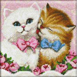 Diamond painting kit - Two cats