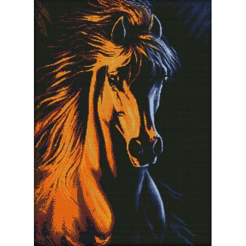 Diamond painting kit - Fire horse