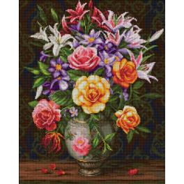 M AZ-1744 Diamond painting kit - Roses and lilacs
