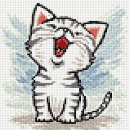 Diamond painting kit - Kitten meaw