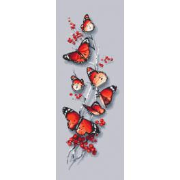 ZI 10192 Cross stitch kit with mouline and beads - Butterfly spell