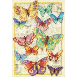 Cross stitch kit - The beauty of butterflies