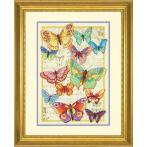 Cross stitch kit - The beauty of butterflies